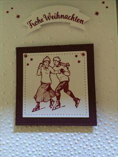 Weihnachtskarte mit der neuen Farbe Sommerbeere von Stampin up