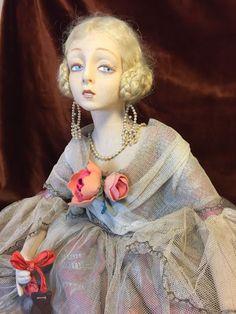 "Extremely RARE Lenci Boudoir Doll 27"" Human Hair Jewelry Silk Beautiful Signed | eBay"