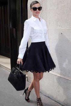 Shop Miranda Kerr's entire sleek & flirty look for just $130