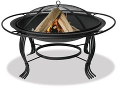 Blue Rhino WAD1050SP Black Outdoor Firebowl with Outer Ring Black Outdoor Firepit Fire Bowl