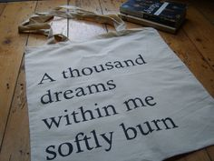 Arthur Rimbaud A Thousand Dreams Within Me Poetry Quote Book Bag Tote. $18.81, via Etsy.
