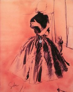 Fashion Illustration by Mats Gustafson Illustration Mode, Fashion Illustration Vintage, Fashion Illustrations, Vintage Illustrations, Fashion Prints, Fashion Art, Womens Fashion, Club Fashion, Female Fashion