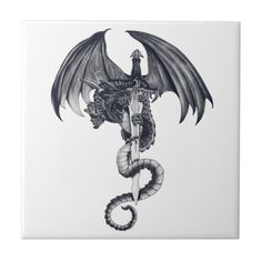 Pencil drawing of a dragon around a sword Size: Small x Gender: unisex. Dragon Tattoos For Men, Dragon Sleeve Tattoos, Japanese Dragon Tattoos, Dragon Tattoo Designs, Tattoos For Women, Dragon Knife Tattoo, Dragon Tattoo With Wings, Spine Tattoos, Chest Tattoo