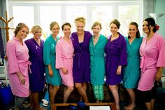 Bridesmaid Gift #1: Initialed Robes | Bobbins of Basil, photo by Sean Marshall Lin