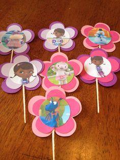 Cupcake toppers de la Doctora Juguetes.