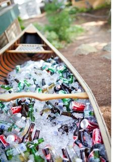 Canoe, well used.