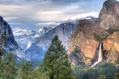 camping in Yosemite and climbing bridal-veil falls.