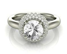 Vintage Style Halo Diamond Ring 67582 Image-1