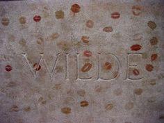 oscar wilde's grave at Père Lachaise in Paris!