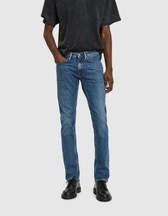 Buy the Acne Studios Max Mid Blue Denim Jean at Need Supply Co. Blue Denim Jeans, Slim Jeans, Stretch Denim, Acne Studios, Shorts, Model, Pants, Clothes, Fashion