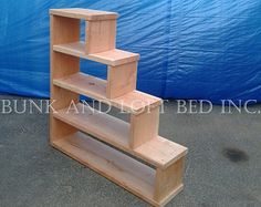 Full Size Heavy Duty Loft Bed With Stair Case Shelf