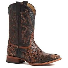 28152b0860c Men's Stetson Cody Boots Square Toe Handcrafted JBS Collection in ...
