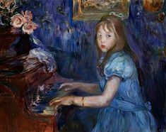 «Lucie Leon au piano», Berthe Morisot (1841-1895)