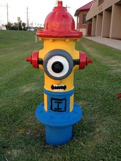 Minion Fire Hydrant #Fire #Department #Firefighter