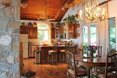 Kitchen and Dining Area - Beverly Farrington Lake House - Accents of the South
