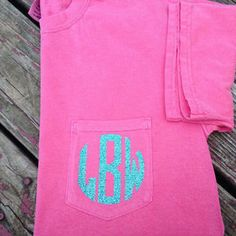 Iron-on Monogram for Shirts Tank Tops Shorts by KrazeDesignss