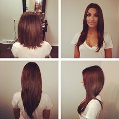 Beautiful Tape-In Hair Extensions Chicago. Perfectly color match wefts.