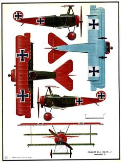 1914 - 1918 The Great War Fokker Dr.I Triplane