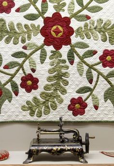 red & green quilt