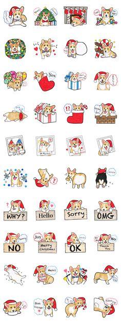 Merry Christmas Corgi sticker - LINE Creators' Stickers