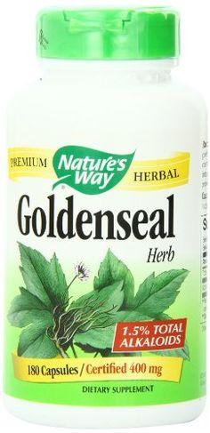Nature's Way Goldenseal Herb, 400mg, 180-Capsules Nature's Way http://www.amazon.com/dp/B00016AH7E/ref=cm_sw_r_pi_dp_L1ypwb02R4FTR