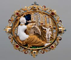 Leda & the Swan and Cupid Cameo Jewelry, Antique Jewelry, Fine Jewelry, Birds That Cannot Fly, Kunsthistorisches Museum Wien, Renaissance Jewelry, What To Draw, Horns, Swan