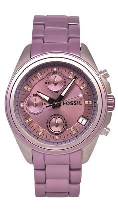 Violet-Fossil Women's Boyfriend Watch.