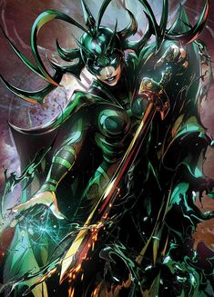 Hela, The Goddess of Death, will be making her first appearance in the Marvel Cinematic Universe on November 2017 in THOR: RAGNAROK. Marvel Villains, Marvel Heroes, Marvel Characters, Captain Marvel, Marvel Avengers, Marvel Comic Universe, Marvel Comics Art, Comics Universe, Valkyrie Marvel Comics