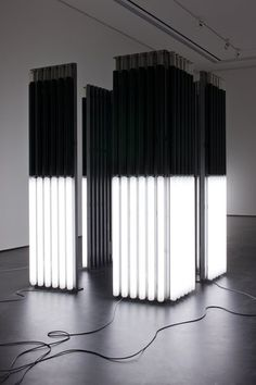 """""""Andrei Molodkin - Cube Acrylic tubes filled with crude oil and argon gas Andrei Molodkin was born in Boui, a town North of Moscow, Russia and started drawing using a simple ballpoint pen..."""