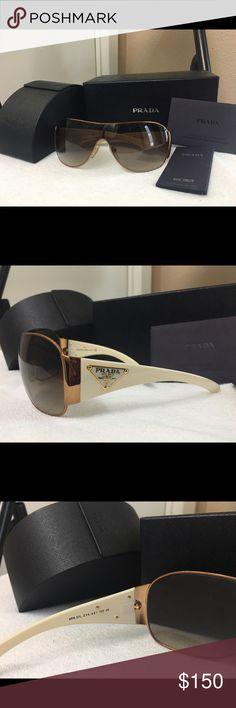 Authentic Prada Sunglasses Prada Sunglasses in great condition. Comes with box, case and certificate of authenticity. Prada Accessories Sunglasses