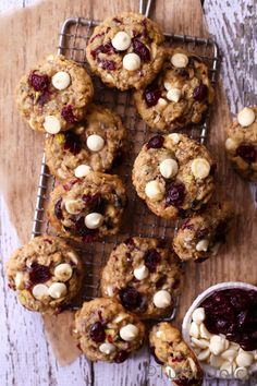 Cranberry Pistachio White Chocolate Oatmeal Cookies