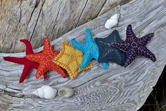 sewn sea stars - OK.. who is gonna make me these?
