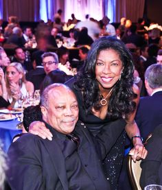 Launch of the Andrea Bocelli Foundation: Quincy Jones & Nathalie Cole