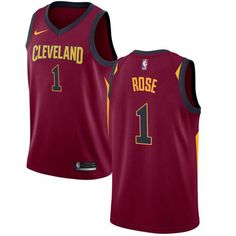 b93a9a533 Nike Cavaliers  1 Derrick Rose Red Stitched NBA Swingman Jersey