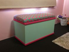 My handy work, homemade toy box!