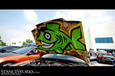 hood art<3 Airbrush Designs, Sticker Bomb, Cool Stickers, Money, Ideas, Caribbean, Cars, Silver, Thoughts