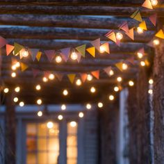 Metal Bunting Garland in Outdoor Living Games + Leisure at Terrain Small Pergola, Diy Pergola, Pergola Ideas, Pergola Roof, Patio Roof, Pergola Kits, Garden Bunting, Let The Weekend Begin, Cotton Ball Lights