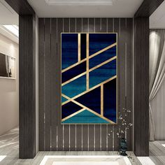 Framed Wall Art Modern Geometric Gold Navy Blue Simple Nordic Abstract Design Gold Art on Canvas Large Wall Art Cuadros Abstractos - Diy Wall Art Diy Canvas Art, Diy Wall Art, Large Wall Art, Framed Wall Art, Modern Wall Art, Modern Canvas Art, Large Wall Canvas, Framing Canvas Art, Frames For Canvas Paintings