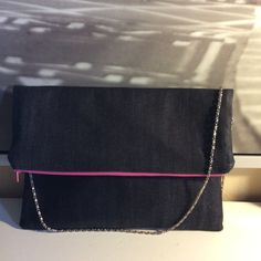 Hey K Fold Down Clutch/Purse