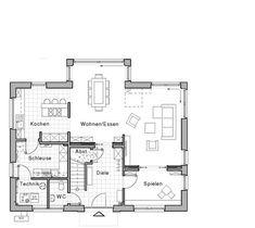 """Grundriss Erdgeschoss: """"Edition 425 – WOHNIDEE-Haus"""" von Viebrockhaus ähnliche tolle Projekte und Ideen wie im Bild vorgestellt findest du auch in unserem Magazin . Wir freuen uns auf deinen Besuch. Liebe Grüße"""