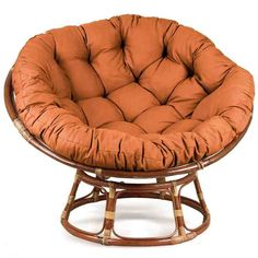 Papasan armchair – relaxing chair from the is the new summer trend - Decoration Papasan Cushion, Papasan Chair, Chair Cushions, Egg Chair, Small Chair For Bedroom, Bedroom Chair, Diy Design, Interior Design, Circle Chair