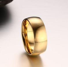 gold men titanium steel ring vintage ring stainless steel ring color-import-express.com