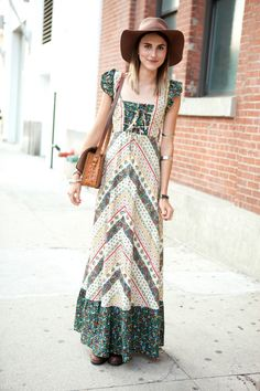 Patterned Maxi  |  Inspiration for hijab, hijab style, hijab fashion, hijab outfit