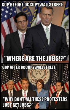 Occupy Wall Street,,,There are currently 3.1 million job openings in America and 14 million unemployed people. Those who blame the poor for not working clearly cannot do math.