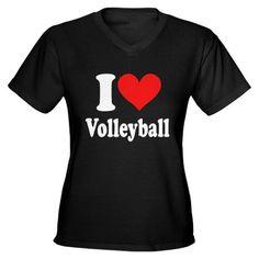 I heart volley ball tee