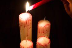 Halloween Kerzen #selfmade #candles #blood #diy #halloween #fun #spooky