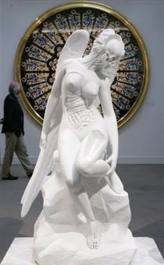 One of the most stunning pieces of contemporary sculpture I have seen Anatomy of an Angel - Damien Hirst