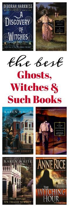 The Best Ghosts, Witches and Such Books - if you're a fan of books with a touch of the unknown, this list is for you! Some of the best ghosts, witches and such books ever written!