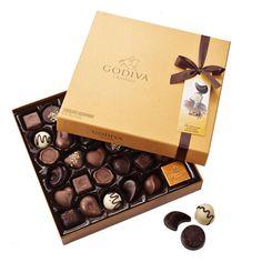 Godiva   Gold Rigid Box 34 Chocolates