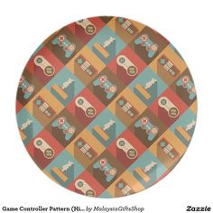 Game Controller Pattern (Hipster Style) Dinner Plate